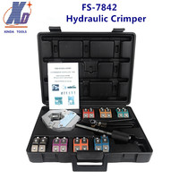 FS 7842Hydraulic Hose Crimper Kit Automative A/C Hose Crimping Tools for Repair Air Conditioner Pipes With 7 Die Heads