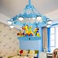 Modern Simple Iron Carousel Children Led Pendant Lamp Bedroom Girl Princess Room Eye Transmittance Lampshade Led Lamp