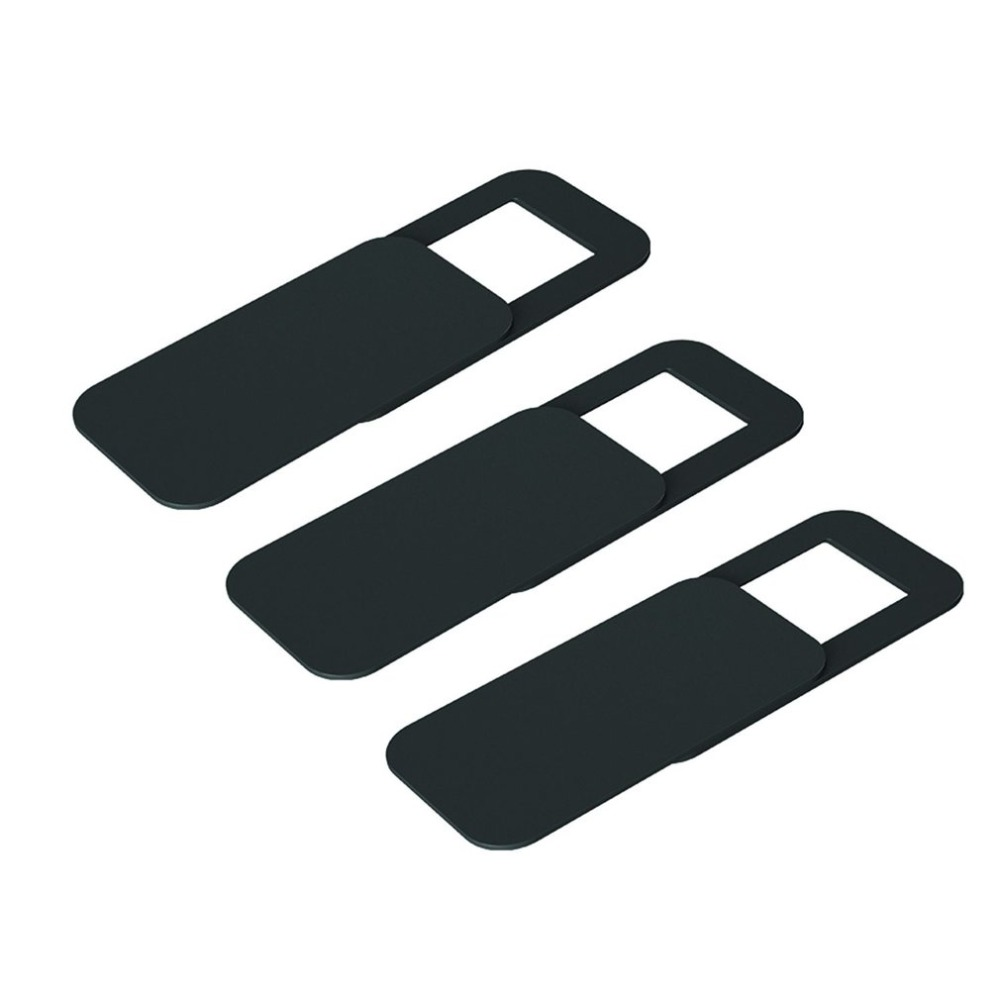T10 3PCS Rectangle Plastic Webcam Cover Ultra-thin Privacy Protector Camera Shutter Sticker For Phone Tablet Notebook Desktop