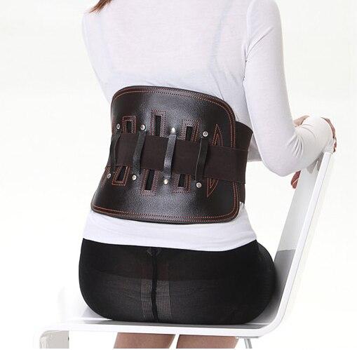 Male Female Leather Adjustable Posture Corrector Man Women Brace Back Belt Lumbar Support Waist Correction For Health Care