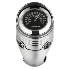Chrome Universal 1 1/4 1.25 Motorcycle Handlebar Thermometer Temperature Gauge