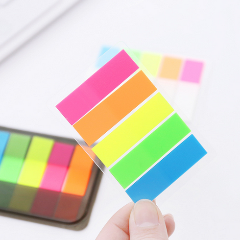 3Pcs/Set Colorful Note Paper Post it notes Rainbow Memo Paper Stickers Stationery Office Material School Memo Pads 014