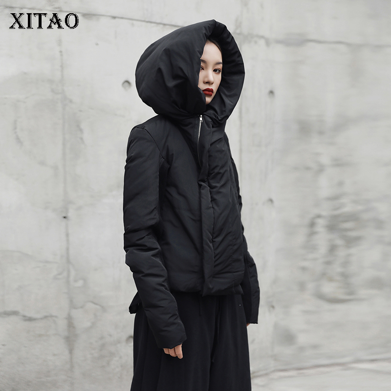 [XITAO] 2018 Autumn Korea Fashion New Women Wide -waisted Full Sleeve   Parkas   Female Casual Solid Color Patchwork   Parka   LJT4104
