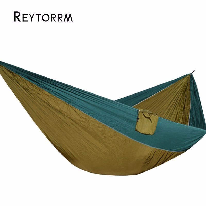 Lightweight Super Large Parachute Hammock 210T Nylon Fabric Hanging Hamac For Outdoor Camping Survival Beach Yard 320*200cm hammock 300 200cm 210t nylon outdoor furniture 2 people portable parachute hammock camping survival garden flyknit hunting hamac