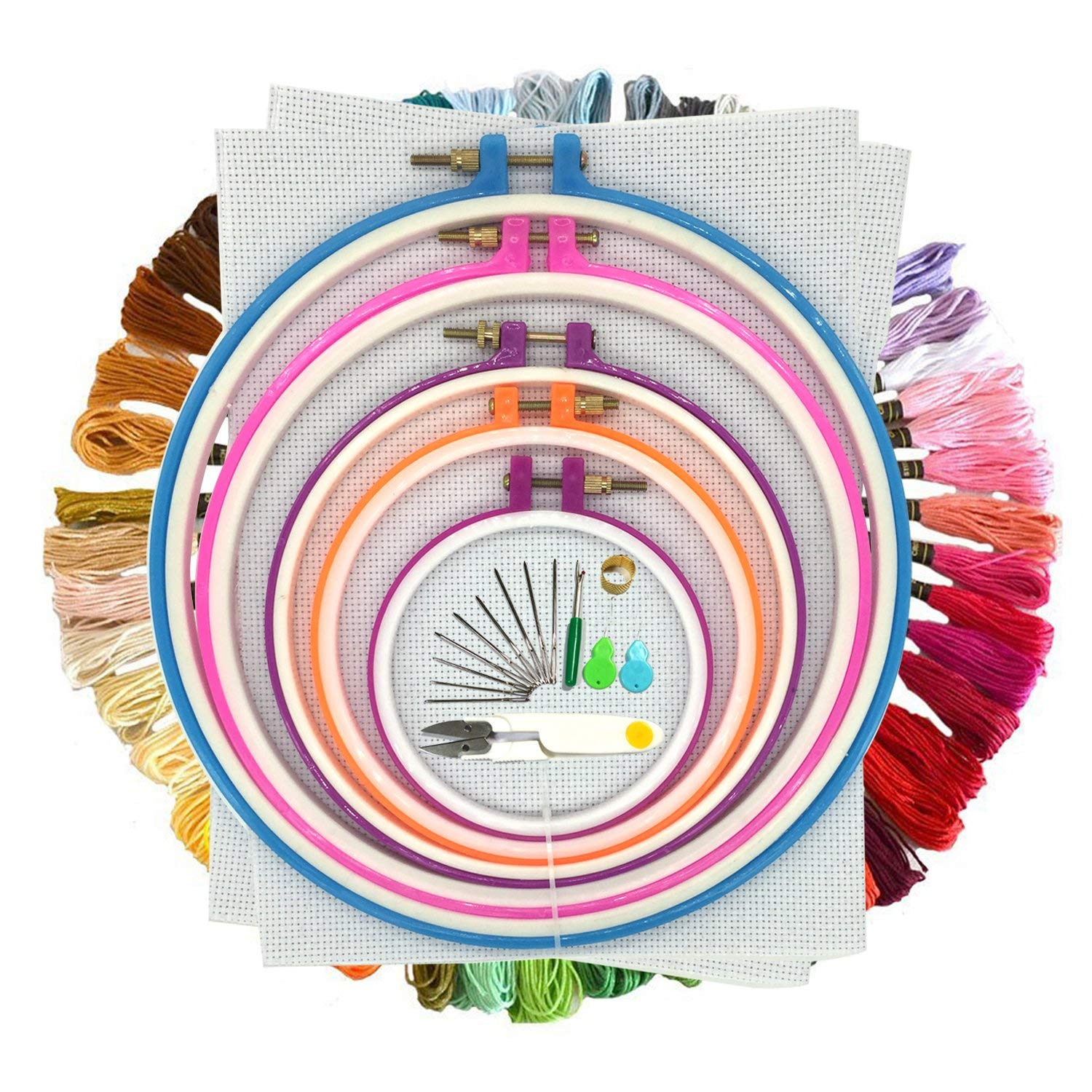 Embroidery Thread Kit Cotton Embroidery Sewing Thread Sewing Thread for Cross Stitch (Multi)