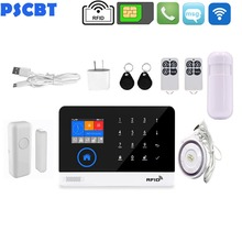 WIFI GSM Security Alarm Kit APP Control RFID LCD Voice Touch Keypad Alert System Home Smart System