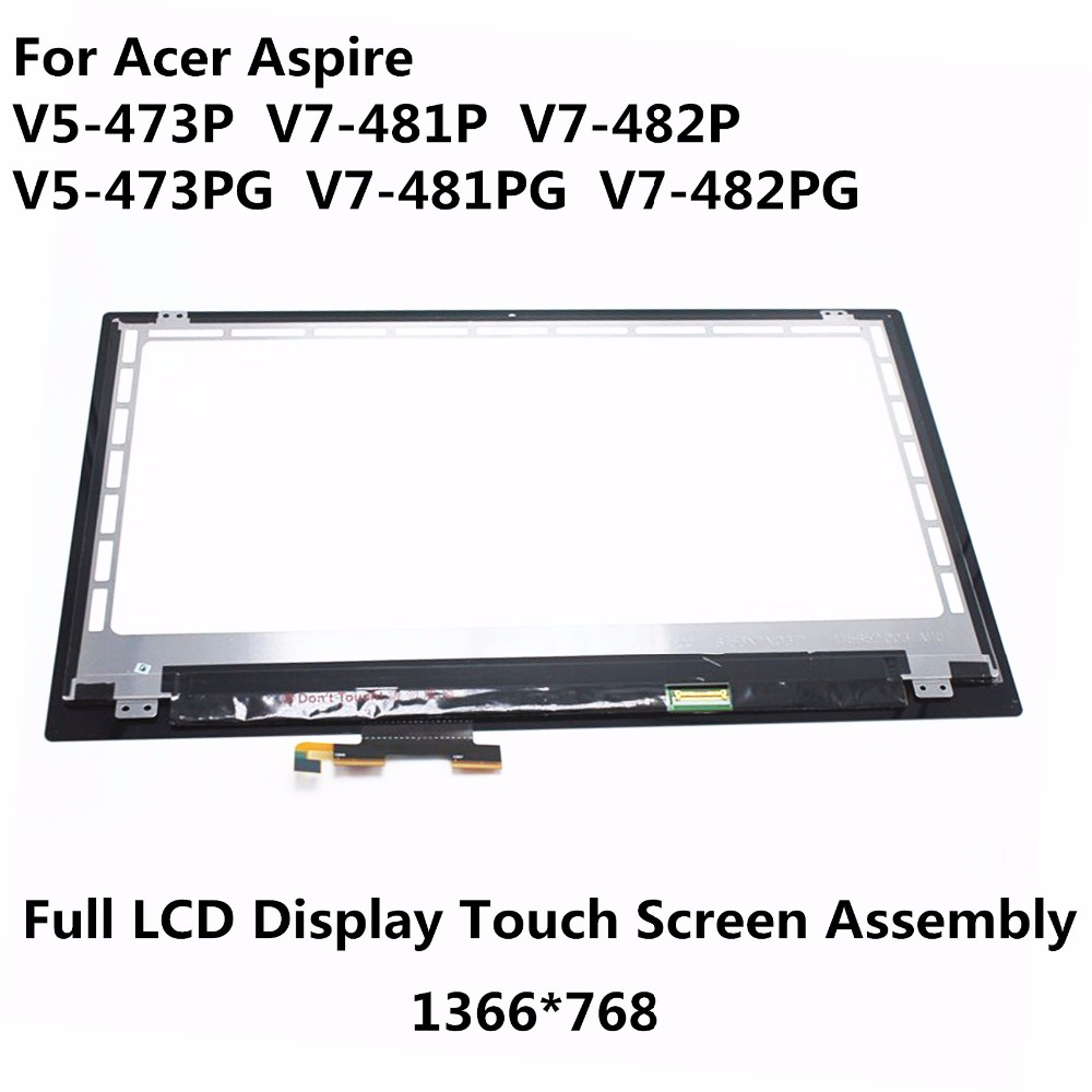 New 14'' Touch Screen Glass Digitizer + LCD Display Assembly For Acer Aspire V5-473P-6610 V5-473P-5639 V5-473P-5602 V5-473P-6459 new 5 black lcd display glass touch digitizer screen assembly for acer liquid z530 lte t02 replacement