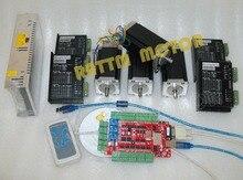 От ДЕ и Необлагаемый Налог 4 aixs USBCNC NEMA23 425oz-в, 112 мм, 3А (Двойной вал) шагового двигатель С ЧПУ комплект