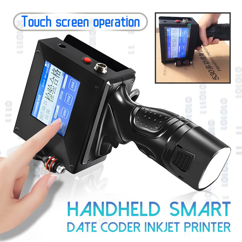 Handheld Touch Screen Label Inkjet USB QR Printer Machine Serial Water Automatic Coding Machine Production Date English System