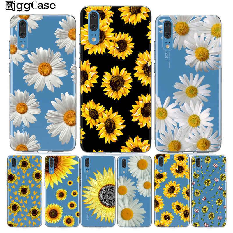 Sommer Daisy Sunflower Floral Blume Telefon Fall Coque Für Huawei P20 P10 P30 Mate 10 20 Lite Pro Ehre 9 10 Lite 8X 8C Y9 2019