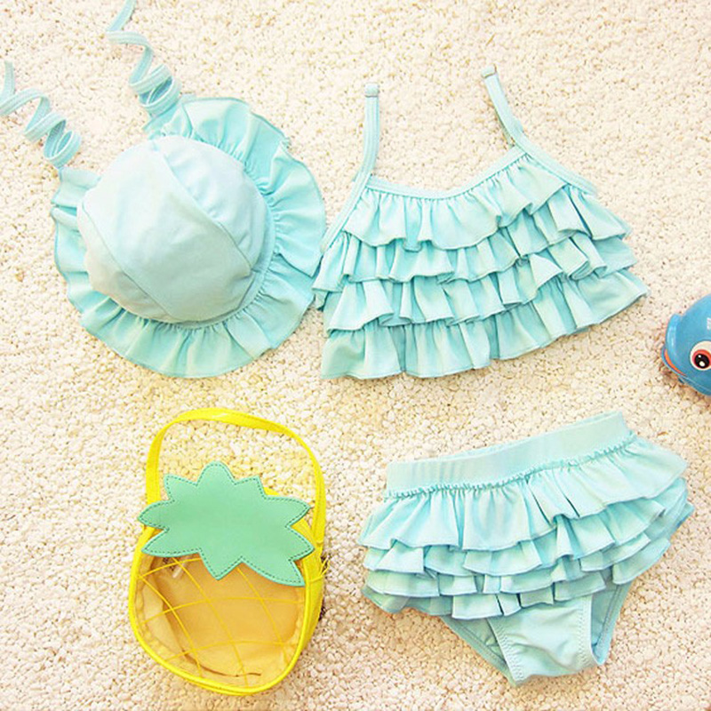 soliga eva flickor bikini flickor badkläder två stycken toddler flicka baddräkter ruffle baddräkter barn bikini badbyxor spädbarn