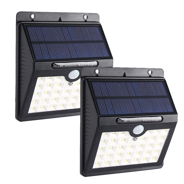 MIFXIN 33 Led Motion Sensor Solar Powered Lights with 3 Intelligient Wall Lights