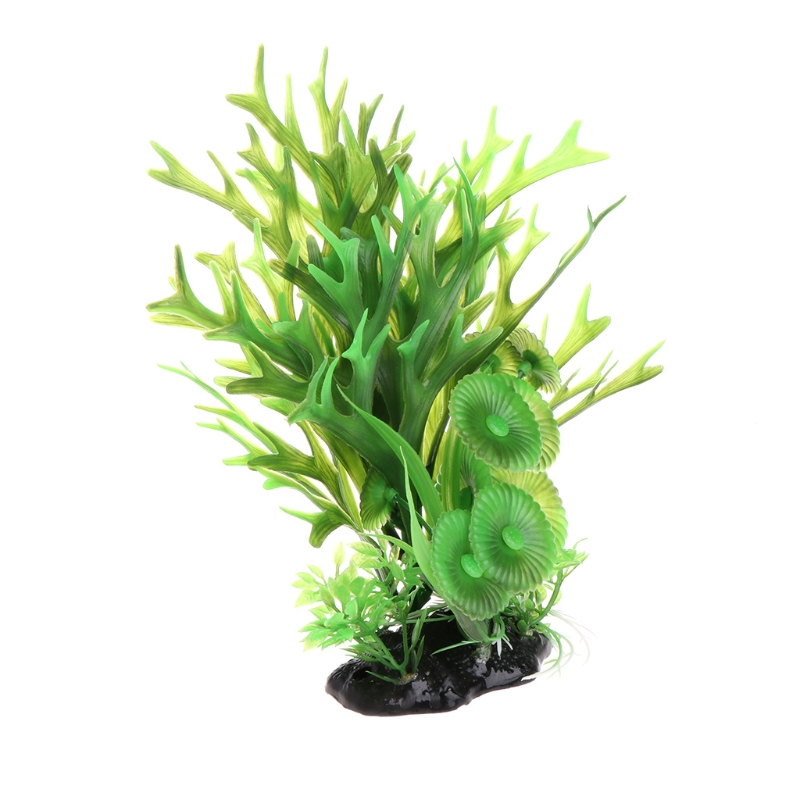 Aquarium Background Aquarium Grama Artificial Green Grass With Ceramic Base Fish Tank Aquario Decoration Aquatic Plants #20/17W