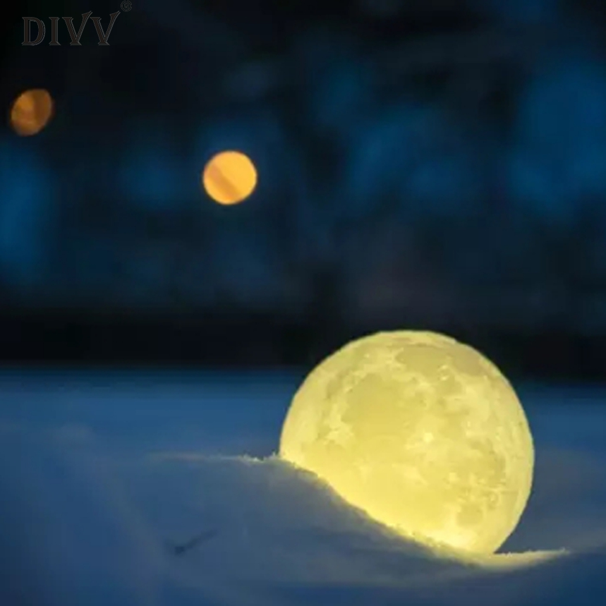 New Arrive 3D USB LED Magical Moon Decoration Light Moonlight Table Desk Moon Lamp Decoration Lighting Miniature s10
