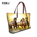 2016 Casual Women Handbags Large Crazy Horse Ladies Shoulder Bags Famous Brand Top-handle Bag Waterproof Animal Tote Bags