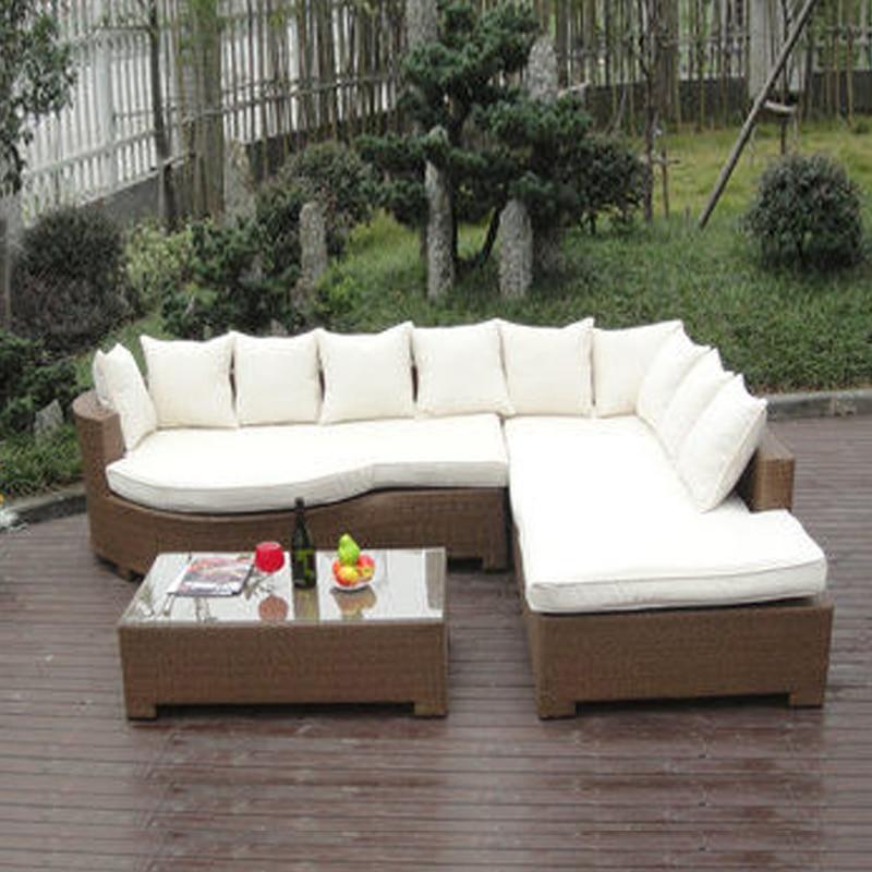 3-delige Home Lounge Sofa met kussen, synthetische rotan - Meubilair - Foto 1