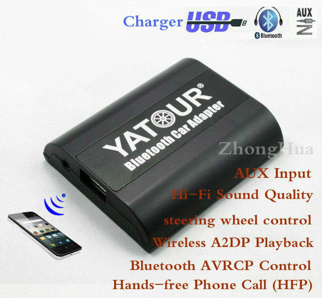 Yatour YT-BTA Bluetooth Hands-free Phone Call Car AUX Adapter for Honda Accord Civic Acura Wireless A2DP Playback Free shipping yatour car adapter aux mp3 sd usb music cd changer 6 6pin connector for toyota corolla fj crusier fortuner hiace radios