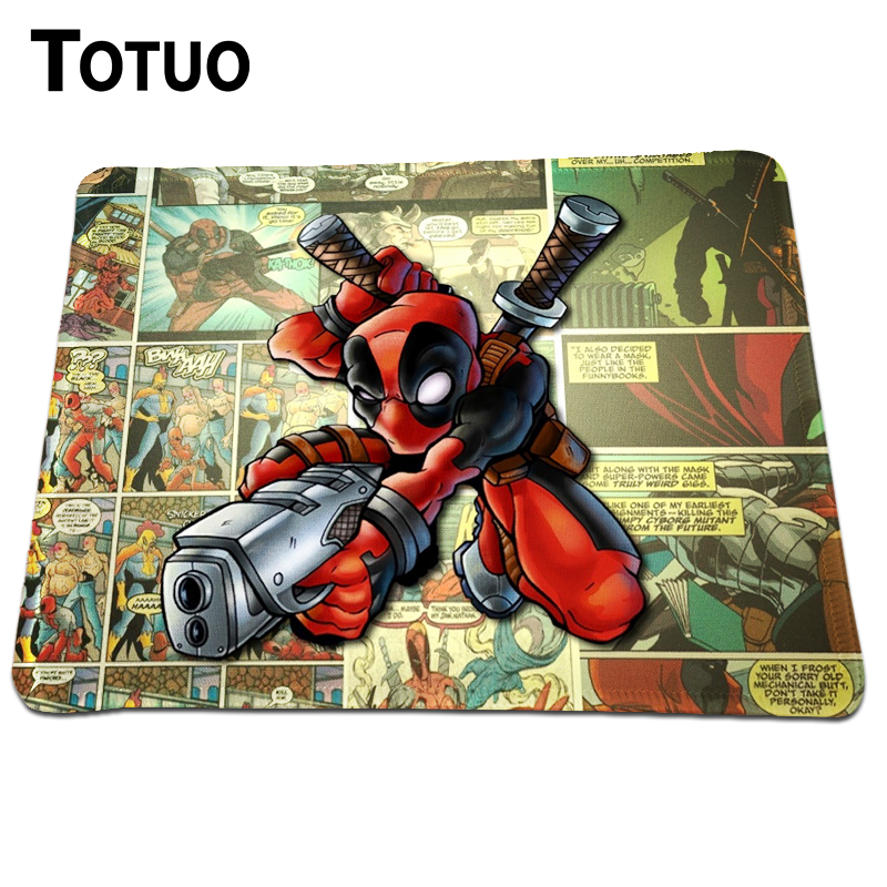 New Rectangle Anime Deadpool Mousepad Black Rubber Lock Edge Mouse Pads For Computer Gaming Optical Mice Mat 250x210mm
