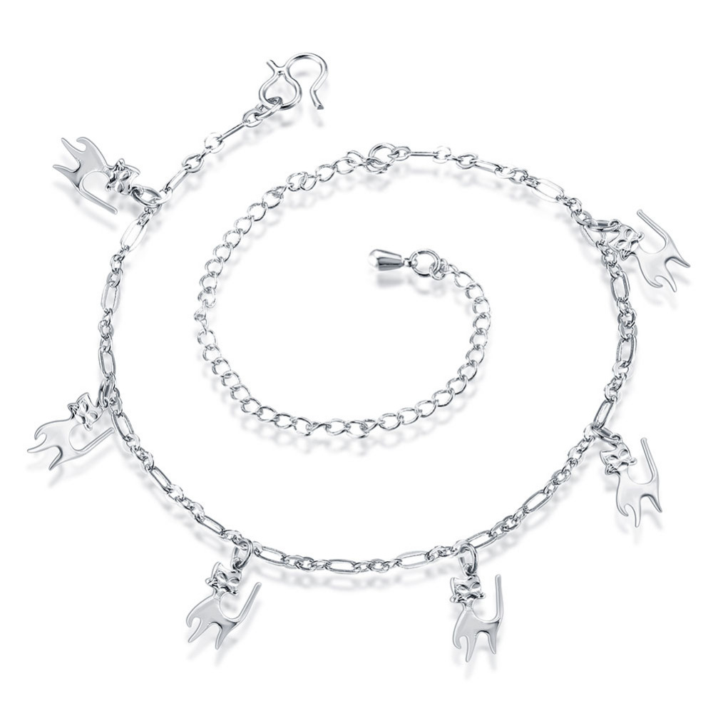 finished crislu anklet small tennis platinum princess bracelet in silver ankle b products classic pure