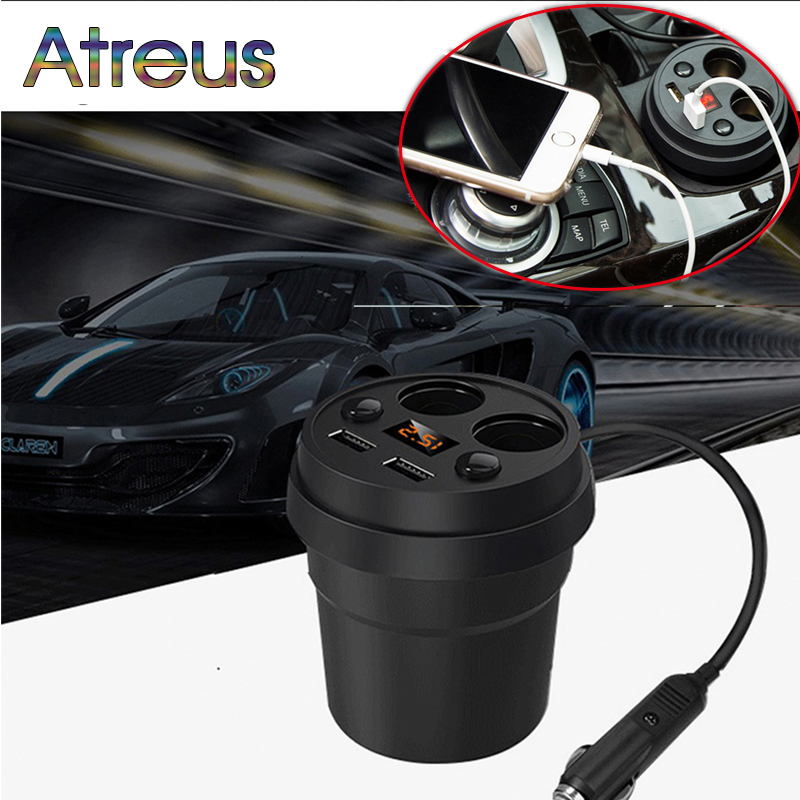 3.1A Multi-function car charger Cigarette Lighter For  Toyota Avensis Rav4 Audi Q5 A6 Renault Captur Skoda Yeti Ford