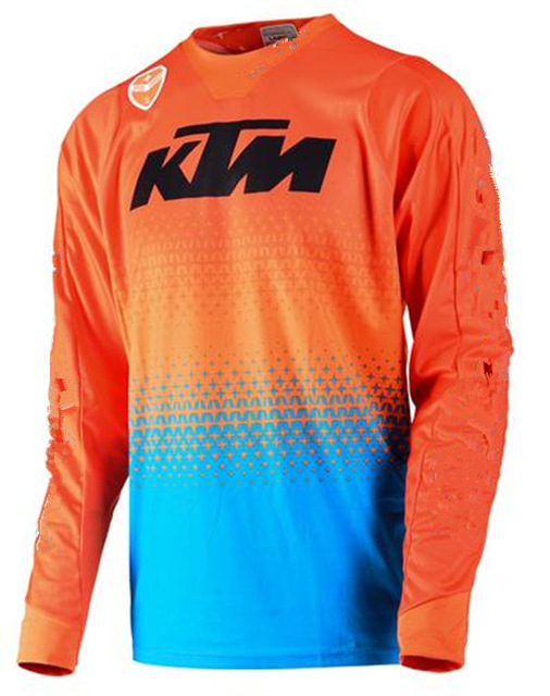 1 8KTM Wholesale Motorcycle Jerseys Moto XC Motorcycle GP Mountain Bike FORyamahaMotocross Jersey XC BMX DH MTB T Shirt Clothes(China)
