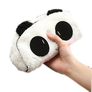 1PCS Cute Cartoon Cat Panda Shape Soft Plush Cosmetic Makeup Bag Pouch Pen Pencil Case Organizador