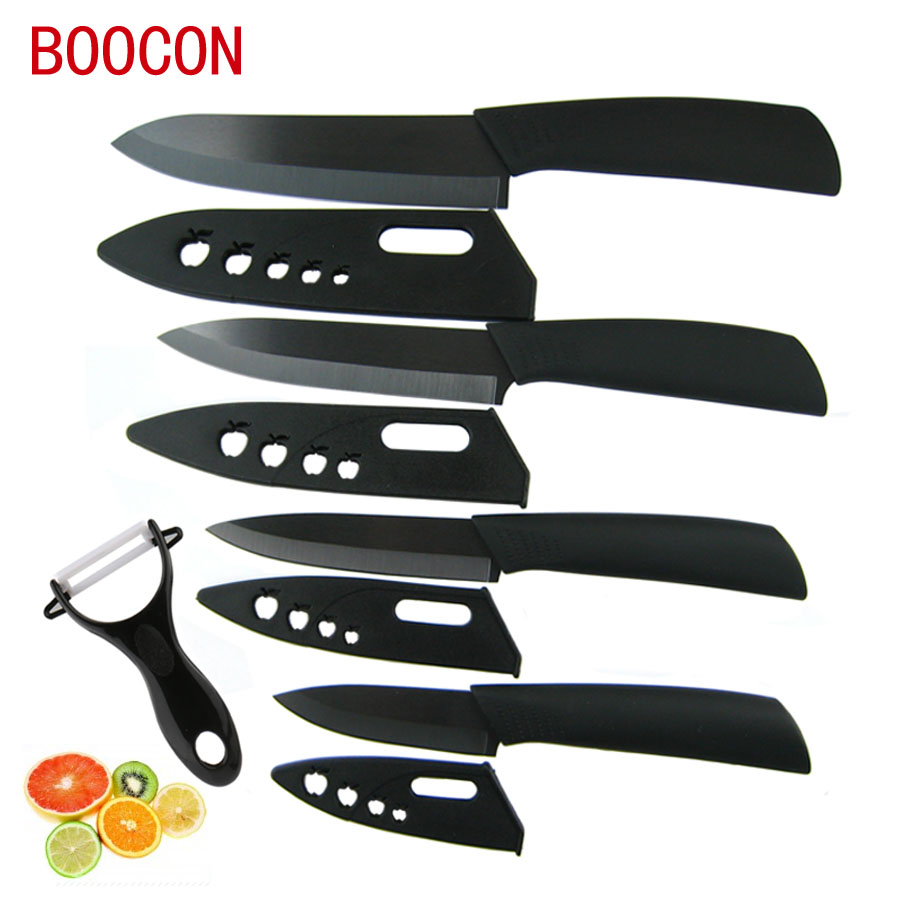 Boocon brand high quality zirconia black ceramic knife set for Kitchen knife set quality