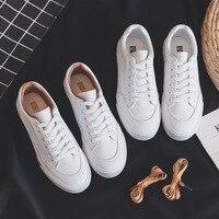 Femmes baskets en cuir chaussures printemps tendance chaussures plates décontracté baskets femme nouvelle mode confort blanc vulcanisé plate-forme chaussures