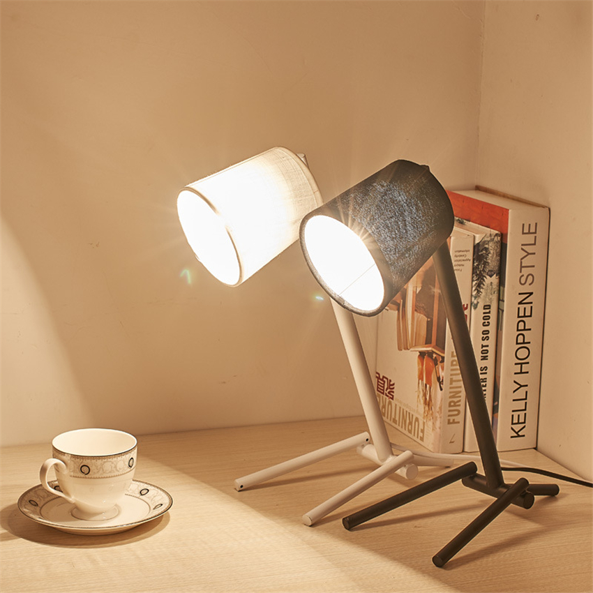 Modern Lights Iron E27 LED Table Lamps Bedroom Living Room Study Loft Desk Lights Lighting Dimmable Table Light Luminaria Avize retro luxury peacock led table lamps cloth lampshade for bedroom living room lighting e27 110 220v desk lights