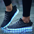 China puqin Luminous Basket Glow bambas tenis Led Simulation trainer Neon shoes with Light up for Adults Male Feminino Men