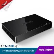 8 יציאת Gigabit רשת מתג 8 יציאת 10/100/1000Mbps שולחן עבודה מהיר Ethernet Switcher lan hub קטן וחכם מיני 8 יציאת מתג