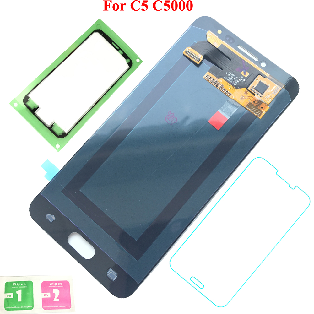 FIX2SAILING Display LCD 100% Working Super HD AMOLED LCD Display Touch Screen Assembly For Samsung Galaxy C5 C5000 StickerFIX2SAILING Display LCD 100% Working Super HD AMOLED LCD Display Touch Screen Assembly For Samsung Galaxy C5 C5000 Sticker