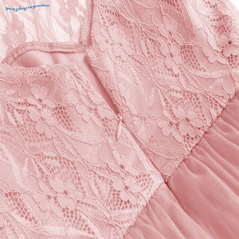 New fall 2018 round collars vintage lace sleeveless dress for the banquet pink dress in Dresses from Women 39 s Clothing