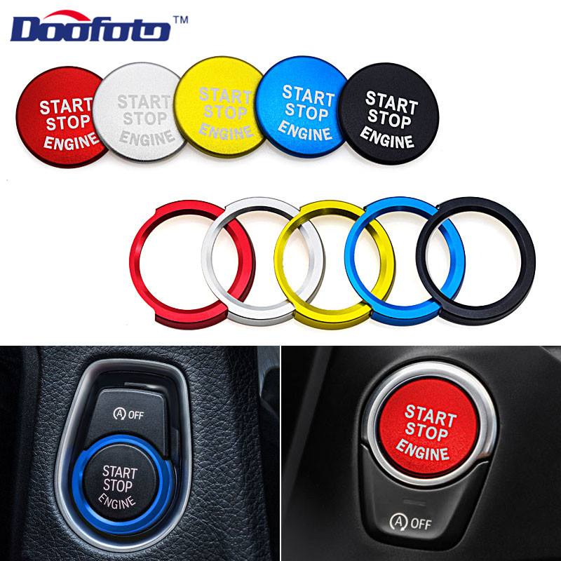 Doofoto Car Styling Engine Start Stop Button Cover Case For Bmw 1 2 3 5 Series X1 X3 X5 X6 Auto Sticker 2019 New Car Accessories