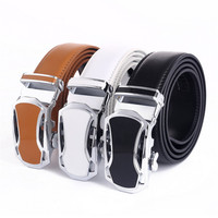 LannyQveen Fashion Belt Black White Brown Colorful Men S Automatic Buckle Belts Wholesale Cow Leather Belt