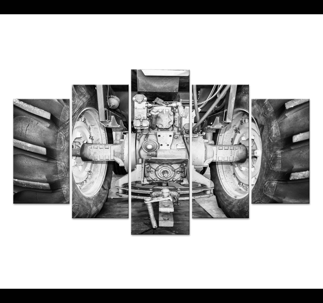 5pcs mechanical manufacturing process photographs posters and prints