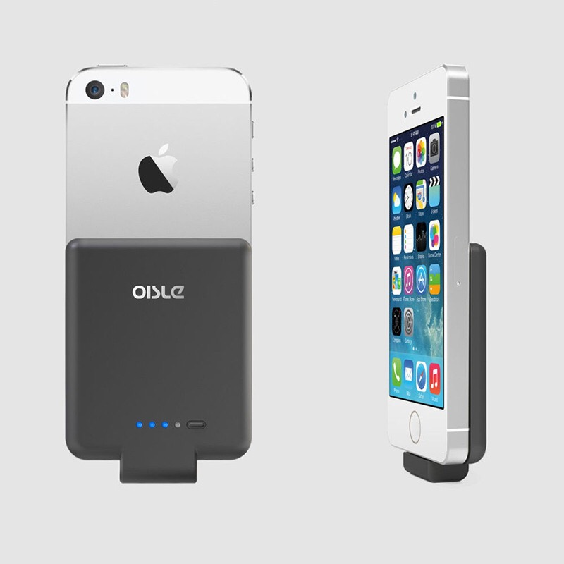 OISLE 2800mAh mini <font><b>Battery</b></font> <font><b>Case</b></font> <font><b>iPhone</b></font> 6 Portable Charging For <font><b>iPhone</b></font> 5s Power Bank For <font><b>iPhone</b></font> SE Slim Extnernal Backup <font><b>Battery</b></font> image