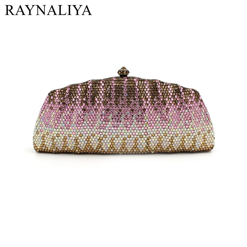 2017 Real Hot Sale Minaudiere Polyester Women Evening Bags Ladies Wedding Party Clutch Bag Crystal Diamonds Purses Smyzh-e0126 women luxury rhinestone clutch beading evening bags ladies crystal wedding purses party bag diamonds minaudiere smyzh e0193 page 8