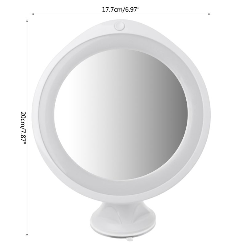 7X/10X Magnifying Makeup Mirror With LED Light 360 Degree Swivel Vanity Mirrors Home Bathroom Novelty Lamp White