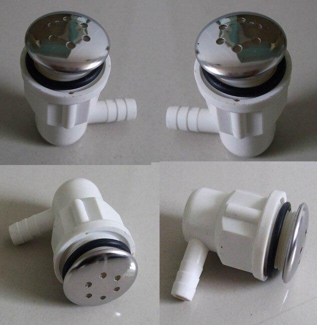 Ванна спа нержавеющей стали воздушный пузырь jet с хромом, воздуходувки 6 отверстий насадка