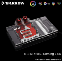Barrow BS MSGZ2060 PA, Full Cover Graphics Card Water Cooling Blocks, For MSI RTX2060 Gaming Z 6G barrow water cooling