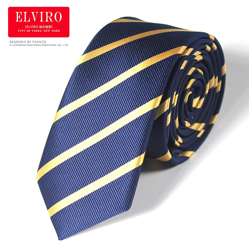 High Quality Tie For Mens 9cm Silk Tie Striped Gravatas Corbatas Men Fashion Pajaritas 2019 Necktie Ascot Navy Blue Yellow Tie