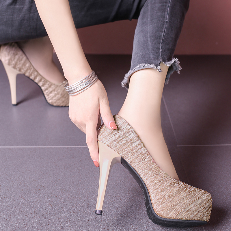 Platform sexy high heels open toe heel banquet shoes high heels women's shallow mouth office shoes C0602 6