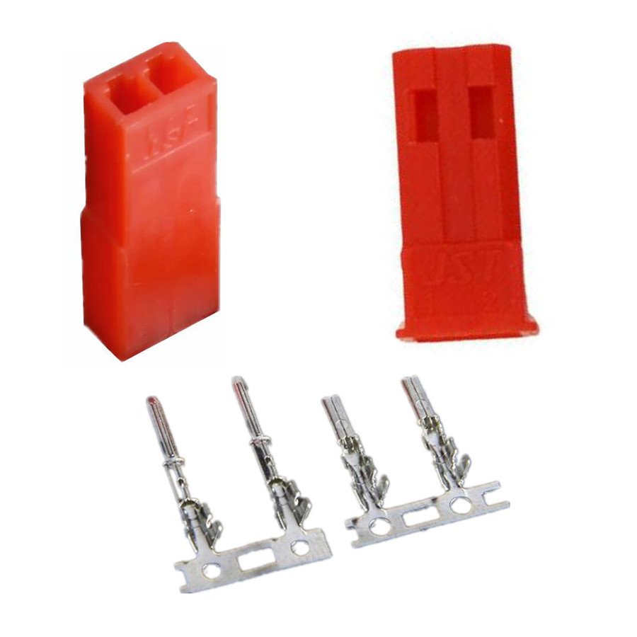 10 Pairs 2.54mm JST SYP 2-Pin Female & Male Red Plug Housing Crimp Terminal Connector Kit  20%off