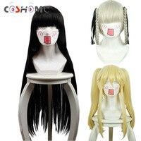 Coshome Kakegurui Compulsive Gambler Cosplay Wigs Jabami Yumeko Momobami Kirari Black Yellow Gray Wig