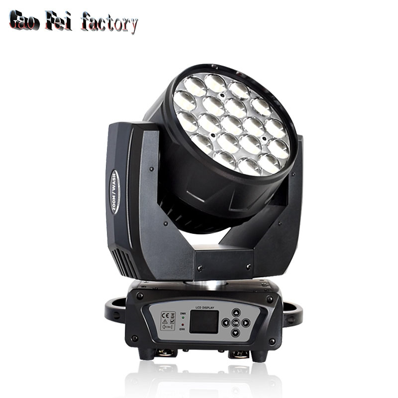 Professional LED Zoom Moving Head Wash 19x15W Stage Lights DJ Equipment