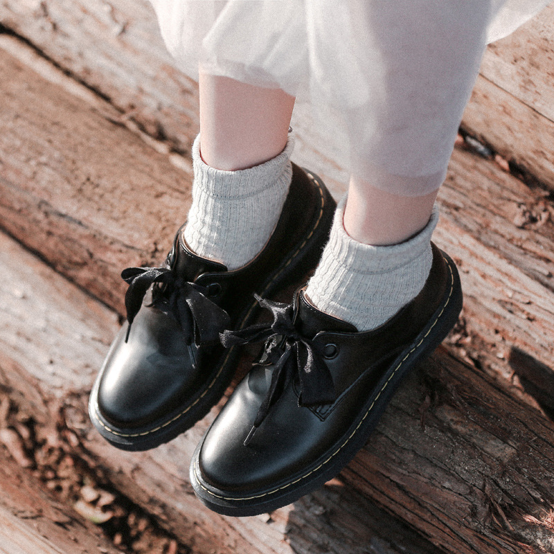Ribbon Lace up Oxford Shoes Woman Flats 2019 Spring Women Leather Shoes Retro Oxford Shoes for Women Zapatos Oxford Mujer