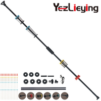 48 inch black blow gun 48 DARTS /.40 caliber aluminum tube aluminum tube structure and foam comfort handle hunting and shooting