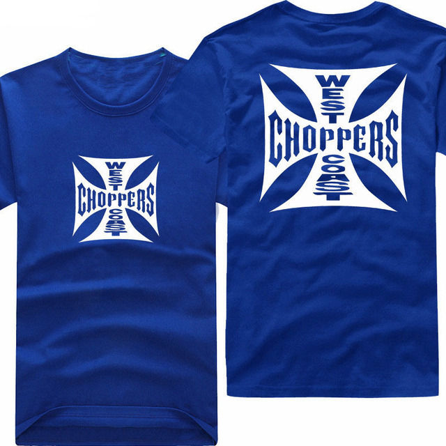 Paul Walker West Coast Choppers T Shirt men casual printing two sides short sleeve tee US plus size S-3XL