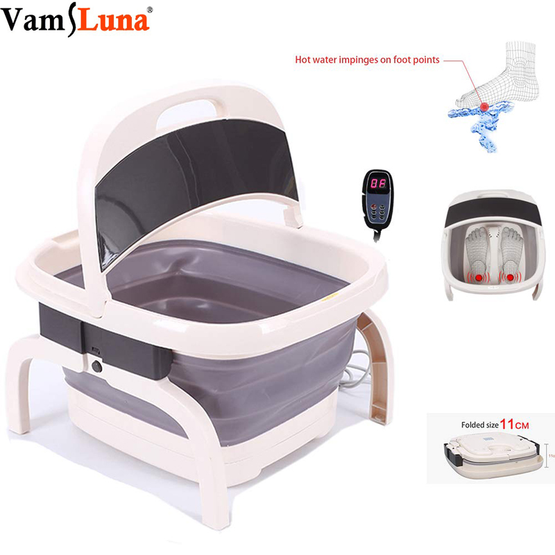 Folded Foot Bath Spa Massager - Heating & Bubble Wave - All in One Pedicure Machine Set for Relaxation & Red Light TherapyFolded Foot Bath Spa Massager - Heating & Bubble Wave - All in One Pedicure Machine Set for Relaxation & Red Light Therapy